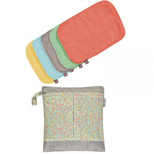 Toallitas lavables bambú colores New Pastel Pop-in