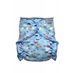 Ajustado T-Tomi Mar Azul broches