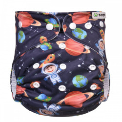 Pañal Rellenable Bambú T-Tomi Universo broches